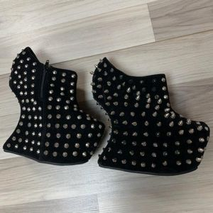 Spike Wedge Booties Lady Gaga style spike boots